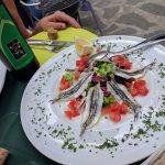 Fresh marinated anchovies