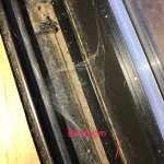 Cobwebs everywhere. Including inside our bedroom.  Holes in doors.  Black long curly hairs in th