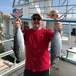 2 Bonitas after catching 15 yellowtail!