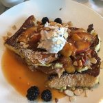 Peach and berry french toast