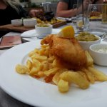 Fish + chips (small ) when done so well is hard to not choose