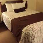 Comfortable beds, updated bedding.