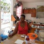 Joan in her kitchen