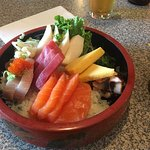 Chirashi - for scale that yellowtail is about 1cm thick