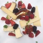 Cheese plate at the pool