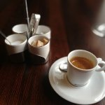 (why to offer Nespresso in a restaurant aiming at perfection???)