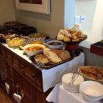 Just one section of the beautiful breakfast buffet