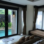 Room with private pool.