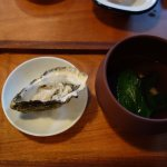 Stunning oyster with mushroom dashi!