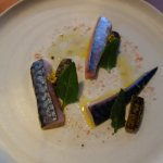 My absolute favourite course - pickled mackerel, divine!