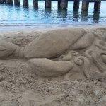 sand sculpture @Hanalei Pier