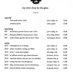 City Wine Shop - Wine List - Bubbles & White
