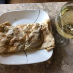 Mushroom & cheese crepes