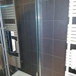 shower (about 3x3 feet)
