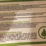 """""""please keep the environment in mind"""" and follow the information you have in your bathrooms!"""