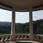 View from the hotel gazebo