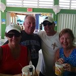Having fun at Lazy Lizard Beach Bar