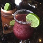 Blackberry Margaritas for end of the summer happy hour