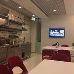 Lounge area on 5th floor at iclub Wan Chai
