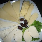 Cheese plate as a starter