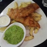 Fish, Chips, and Smashed Peas