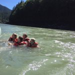 About mid-way into the trip - Swimming in the Fraser!!