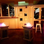 Fires to keep you warm in the outdoor seating area
