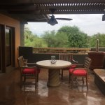 The patio that comes with your casita/room if you are upstairs