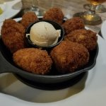 Corn Fritters with honey butter.