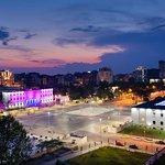 Tirana by Night viewinng from hotel