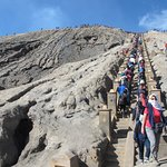 253 stairs to the edges of Mount Bromo crater