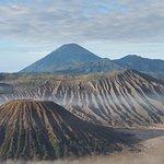 Close view of the Tengger caldera
