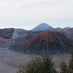 Mount Batok, Mount Bromo and Semeru in distance