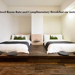 Book direct and receive BGR and Complimentary breakfast.