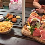 Antipasto and fish cakes