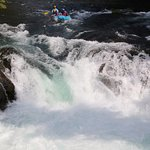 Going down Husum Falls on the White Salmon River