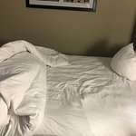 When we arrived and pulled back the covers, we noticed that the sheets still had the impression