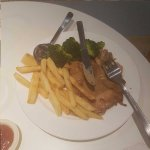 Chicken chop with fries