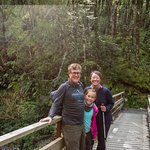 Us, on a bridge along the Routeburn Track