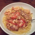 Chicken Shrimp carbonara