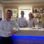 The hardworking bar staff
