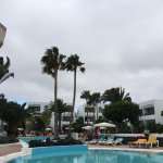 Even on an overcast particularly windy day it's lovely. Pool area stunning albeit a little short