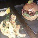 Calamari & a hamburger