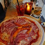 One of the tasty pizzas at Guiseppe