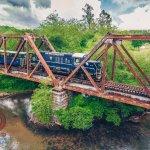 The iron bridge before getting into McCaysville, Ga