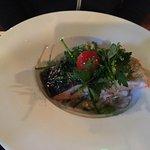 Dos de saumon et risotto d'epeautre