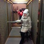 Симпатичный лифт отеля