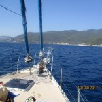 view from sailing boat