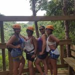 A quick pic before dying of nerves while we got ready to go Rappelling.