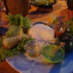 Gaspacho de concombre, de tomate, algues, nem, gratin de christophine ...